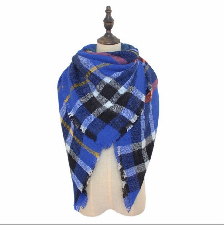 Plaid Sciarpe 140 * 140 cm Pashmina Grid Scialle a righe Sciarpa tartan nappa Cosy Fashion Wraps oversize Cashmere Lattice Neckchief YYA542