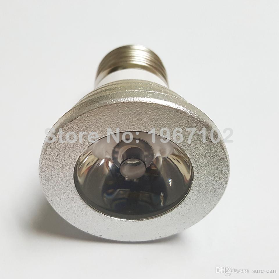 in magazzino a buon mercato lampada RGB 3W 5W E27 GU10 Led Light E14 GU5.3 MR16 12V 85-265V ha condotto la lampadina del riflettore i Change + IR telecomando DHL fre