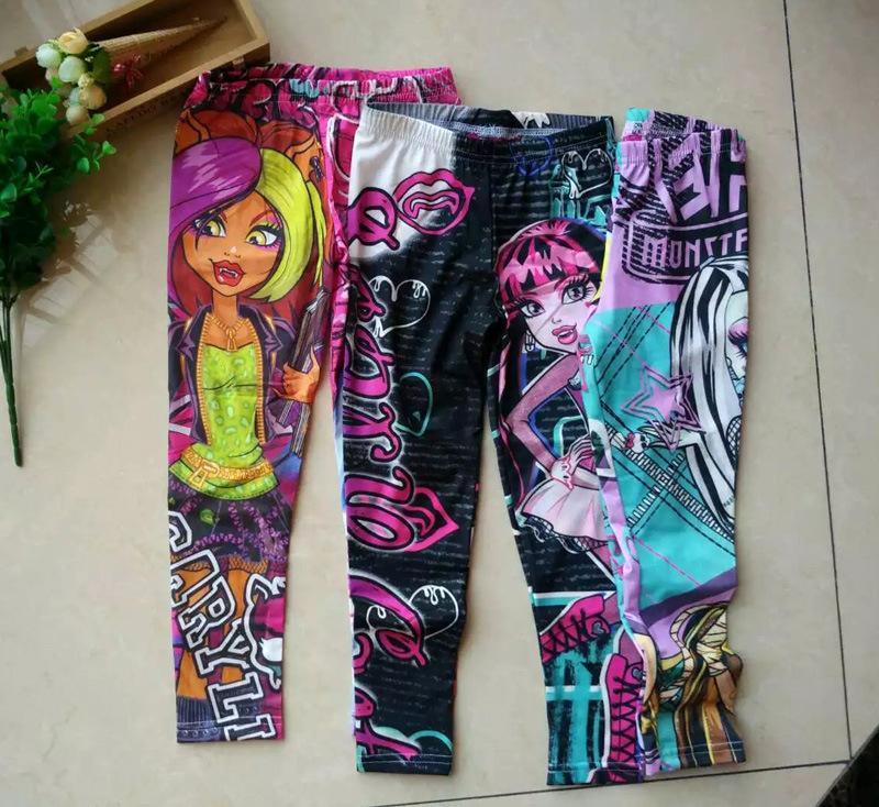 2017 2016 new monster children girl leggings underwear girls long pants fall spring children. Black Bedroom Furniture Sets. Home Design Ideas