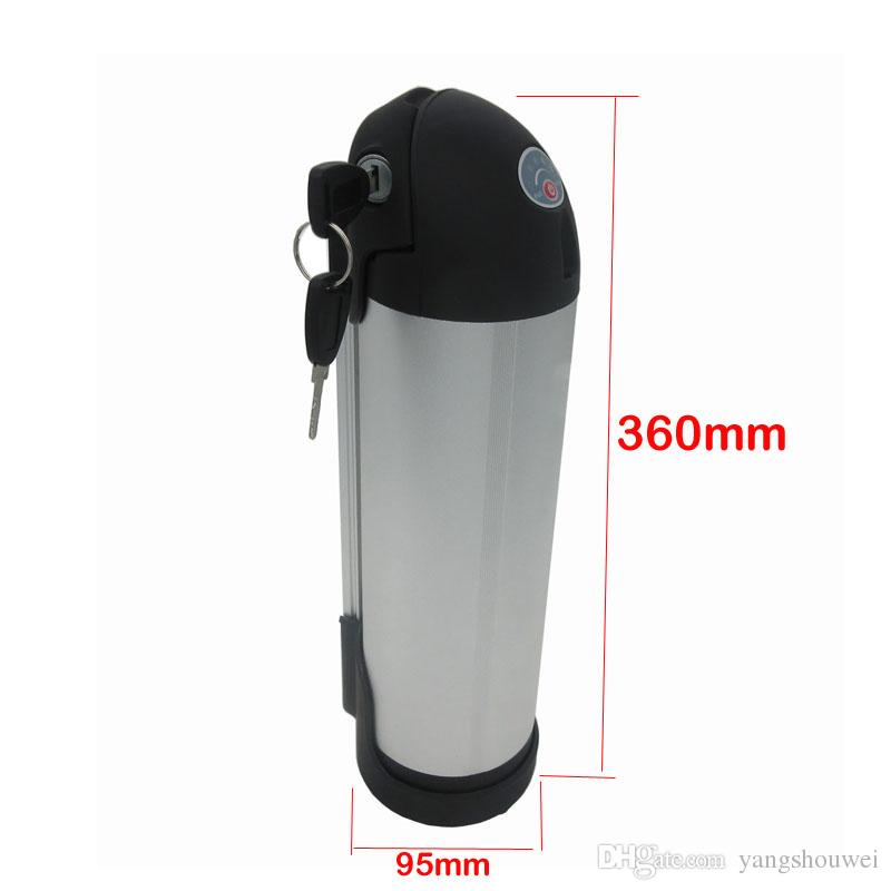 Hot sale 36volt 500W Water bottle lithium Battery 36V 12AH Electric Bike battery with 42V 2A charger,15A BMS
