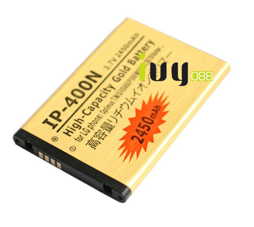 5шт/лот 2450 мАч ИС-400Н замена золото аккумулятор для LG Оптимус т/м/с VS660 MS690 LS670 P509 Vorter U9400 GT540 LW690 GX200 GM750 аккумулятор