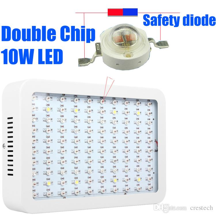 1000W Full Spectrum LED Grow Light square double chip LED Grow Light for hydroponics plant growing lights white housing body or black
