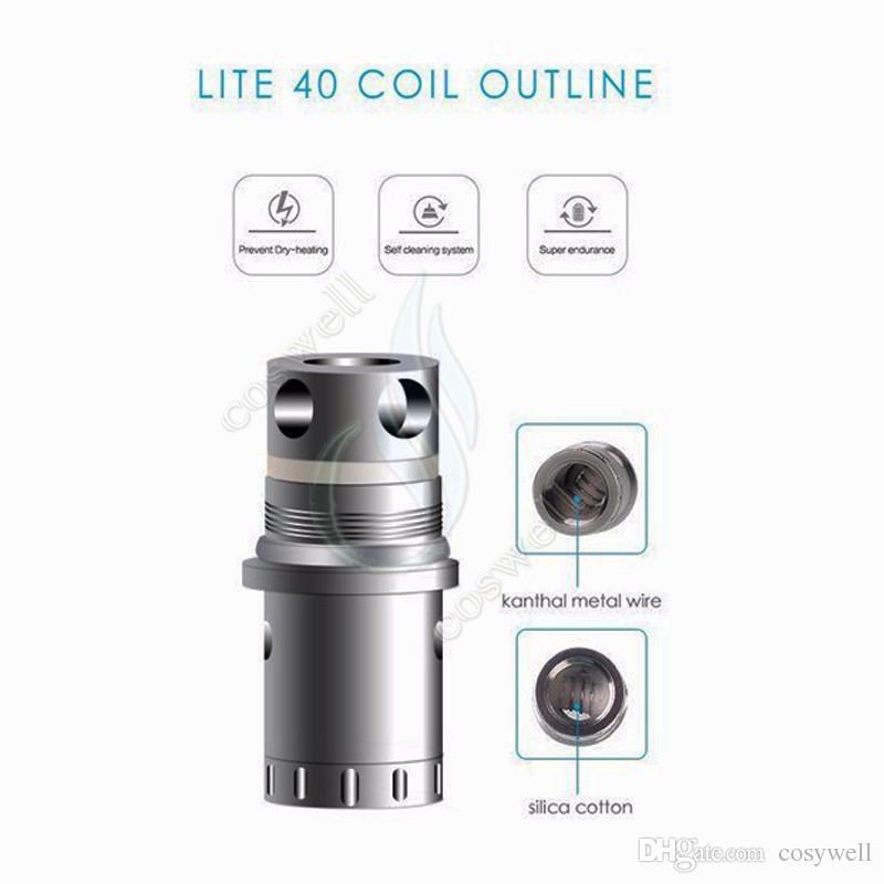 Jomo Lite 40 Reemplazo Sub Ohm Coils para Jomotech Lite 40W Kit Tank Coil Head 0.5ohm Reconstruible y cigs Vape Mods Atomizadores vapor Core DHL