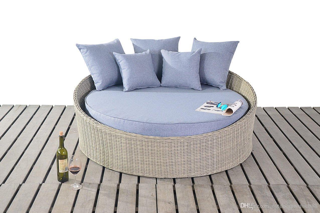 Outdoor Rattan Wicker Round Bed Outdoor Wicker Lying Bed Rattan  # Muebles Rattan Puerto Rico