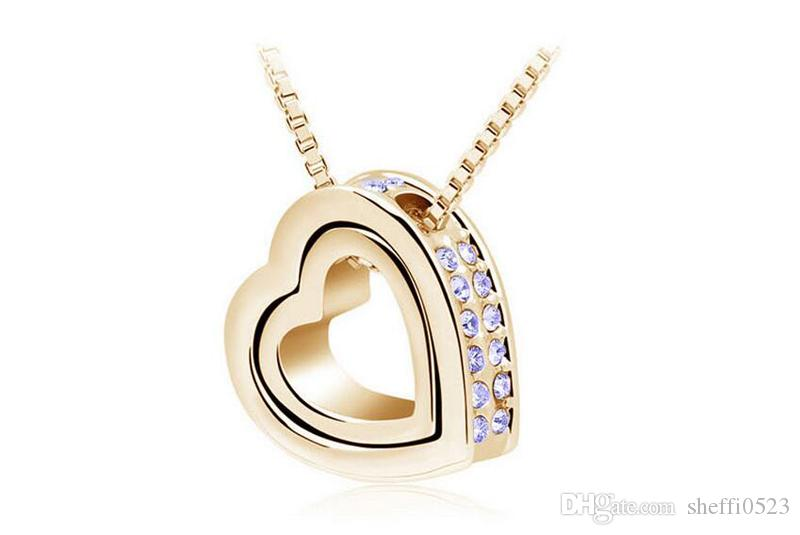 Eternal Honey Heart Necklace Jewelry Fashion Crystal Cheap Price From Factory Direct Sales Necklace For Women Sales B117