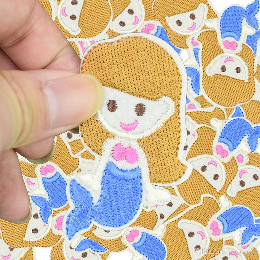 mermaid embroidery patches for clothing iron fashion patch for clothes applique sewing accessories on stickers clothes iron on patches