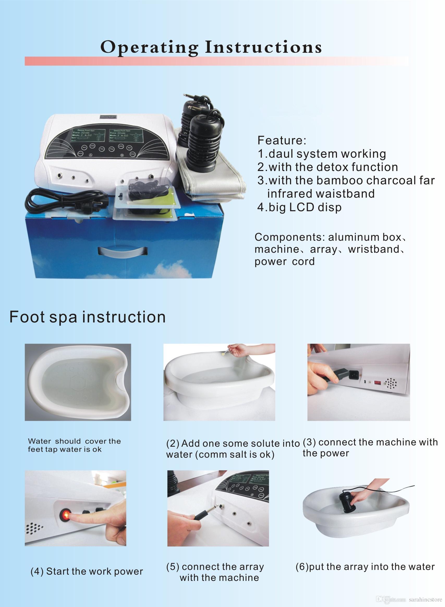 1 조각 무료 빠른 배송 DHL / Fedex A13 해독 발 스파 기계 이온 클렌저 족욕 이온 해독 해독 기계 이온 발 스파