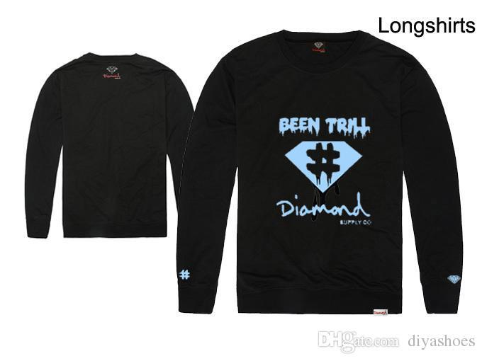 2018 new arrival hiphop homens e mulheres camiseta manga longa diamante amor manga comprida t shirt streetwear estilo hip hop preço de atacado solto