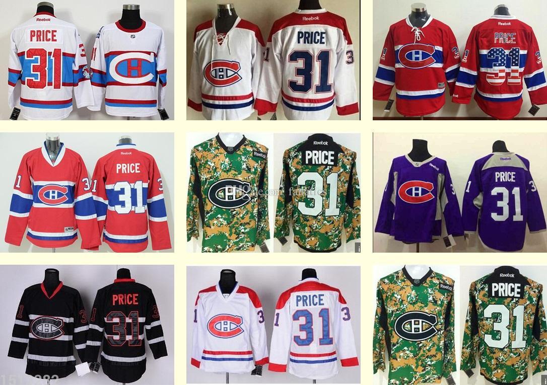 ... france 2018 2016 wholesale mens hockey jersey montreal canadiens 31  carey price black white red purple b8b3e475c