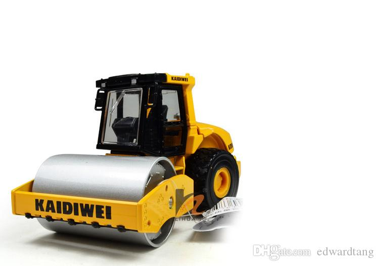Alloy Truck Model Toy, Road Roller, Engineering Van with Steel Roller,High Simulation, for Kid' Christmas Gifts, Collecting, Home Decoration