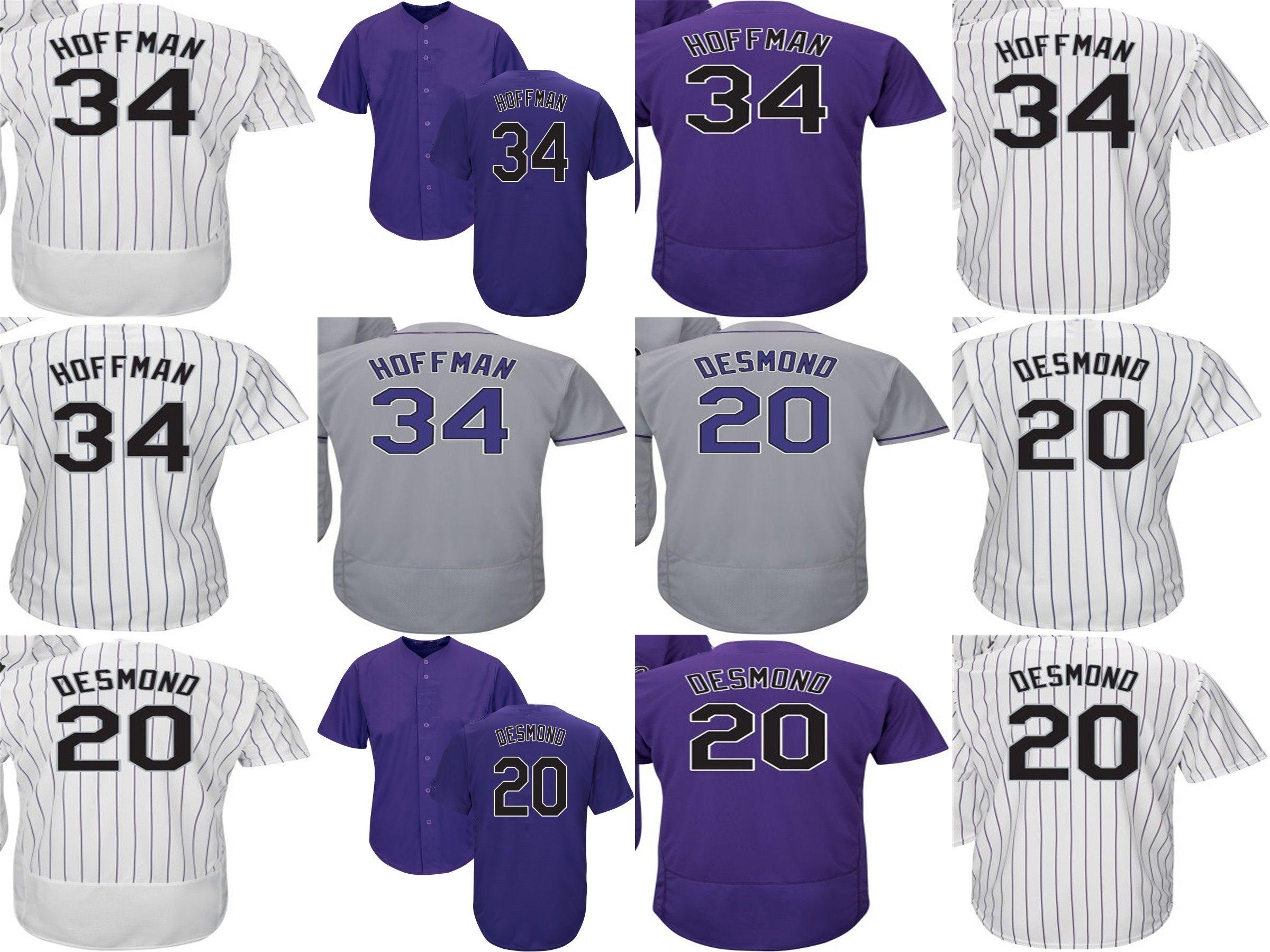 57d5f8463 ... best price newest mens ladys kids toddlers colorado jerseys 20 ian  desmond 34 jeff hoffman purple