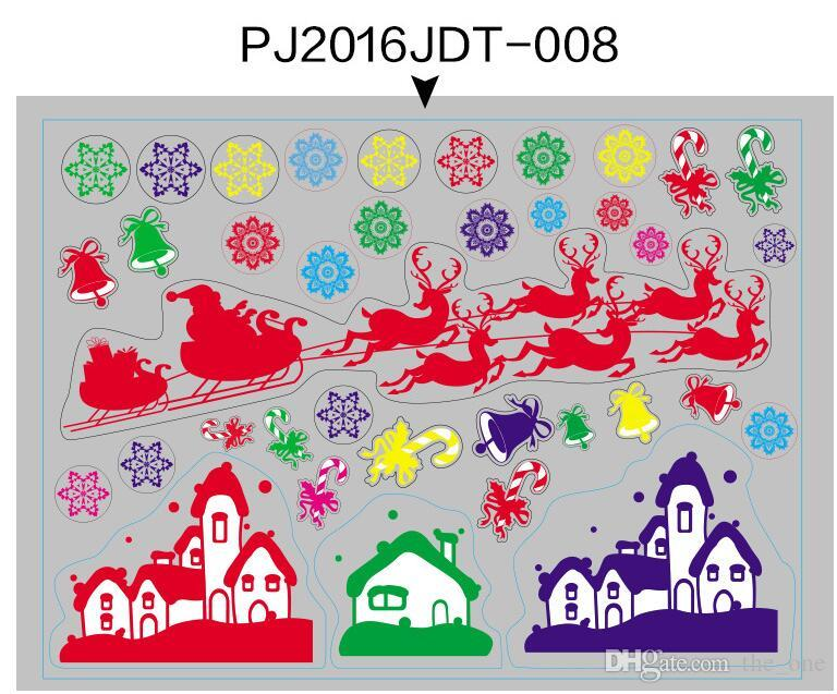 Shop Window Wall Stickers for Christmas Decorative Wall Cecal Xmas Home Decoration Window Display Removable Wallpaper in stock