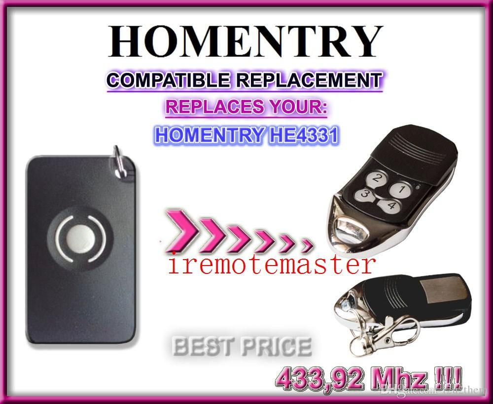Garage Door Remote For Homentry He4331 Transmitter Replacement