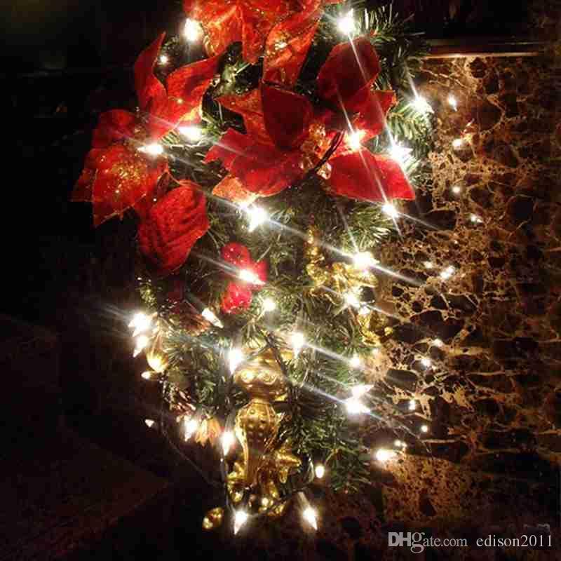 Edison2011 2/3/4 / 5 / 10m Batería Operada por la batería LED de cobre Luces de hadas String Navidad Inicio Party Decoration Semen Lámpara Impermeable