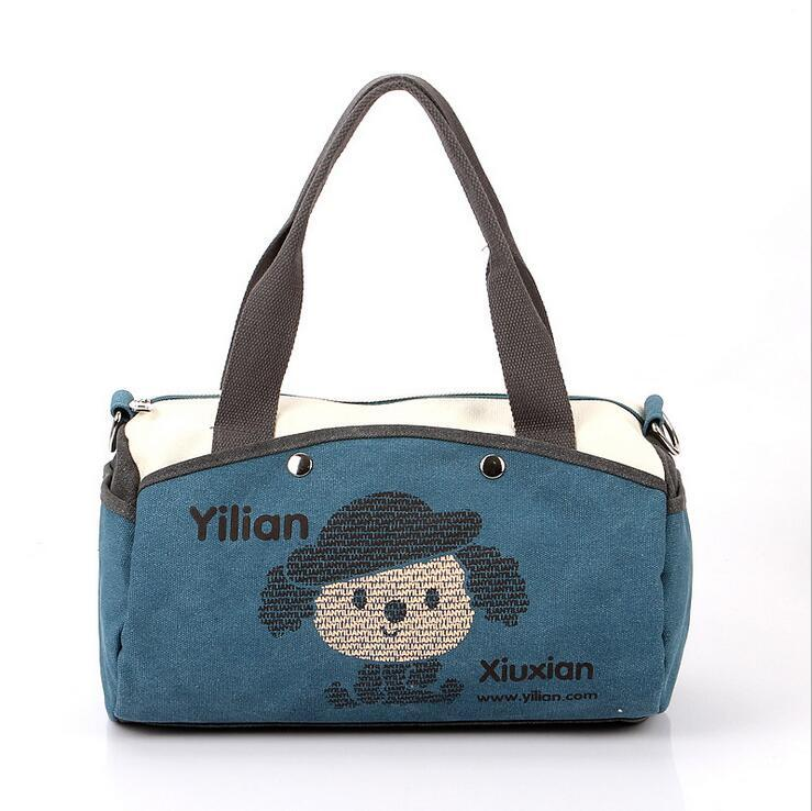 New Arrival Fashion 5 Color Canvas Cartoon Cute Individual Character Vogue Women's Shoulder&Handbags Totes Free Shipping