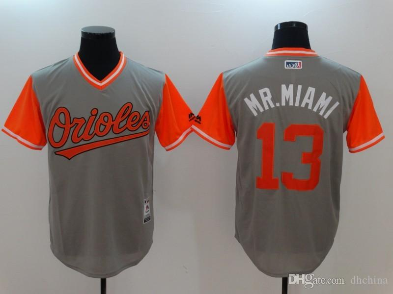 6b498941875 ... womens stitched mlb jersey b147e dfcd3  best price 2017 new baltimore  orioles 13 manny machado mr. miami jersey gray 2017 players