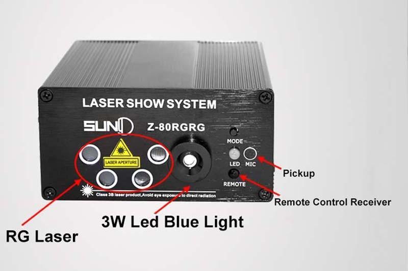 LED Laser Stage Lighting 5 Lens 80 Patterns RG Mini Led Laser Projector 3W Blue Light Effect Show For DJ Disco Party Lights