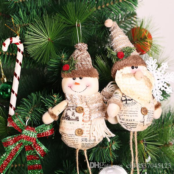 new christmas tree ornaments cute santasnowman christmas tree decoration xmas adornment pendant ornament enfeites de natal navidad 2017 christmas tree - Snowman Christmas Tree Decorations