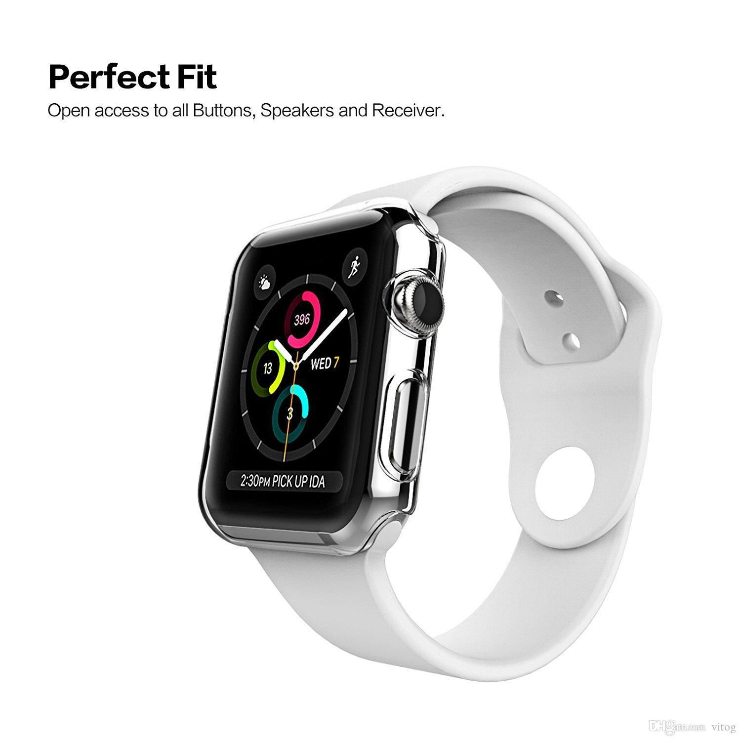 Cubierta transparente de la caja protectora transparente ultra delgada para PC de Apple Watch Series 4 3 2 1 iwatch 38mm 42mm