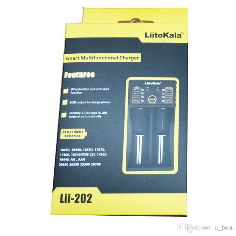 유니버설 18650 배터리 충전기 Liitokala 듀얼 슬롯 충전기 USB 충전 충전식 리튬 이온 배터리 18650 18490 18350 17670 17500