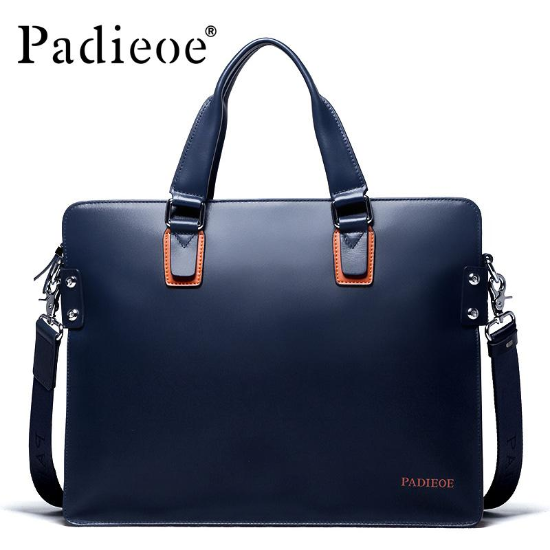 f3b5940b67b2 Wholesale Padieoe Hot Sale Luxury Genuine Leather Men Briefcase Fashion  Business Men Shoulder Bags Deluxe Brand Durable Male Briefcases Leather  Products ...
