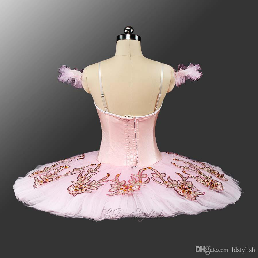 New Pink Classical Ballet Tutu LD0047 Adulto Panqueca Tutu Ballet Profissional Tutus Ballet Rosa Bela Adormecida Tutu Trajes