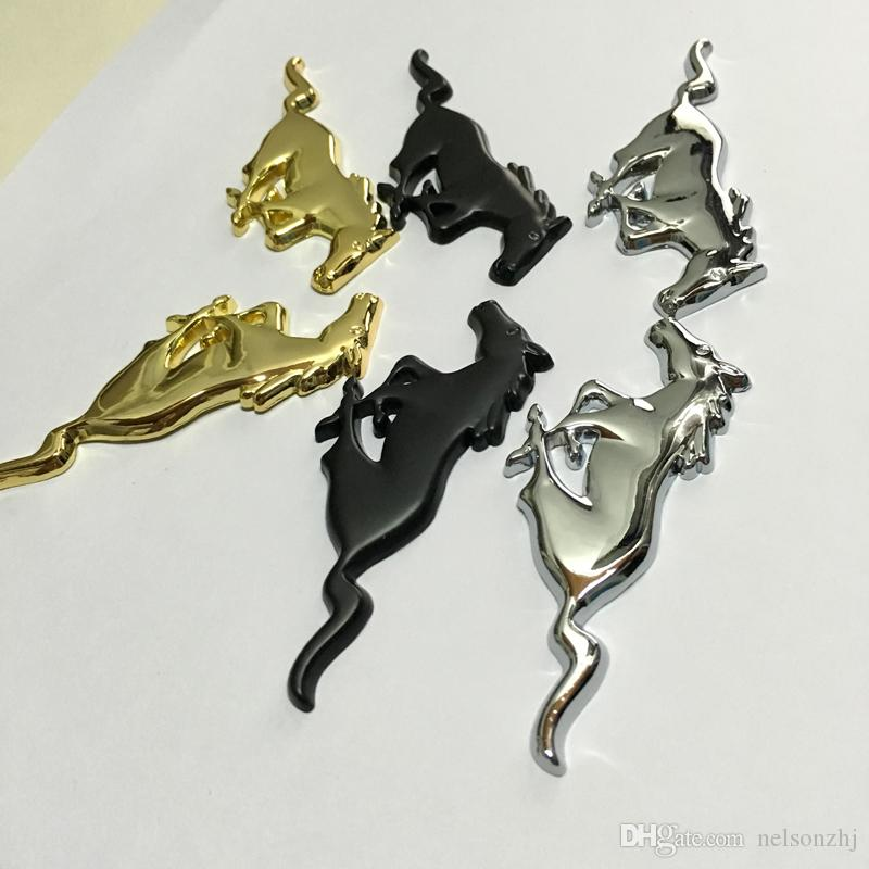 Car Metal Horse logo badge emblem sticker size 75x28 +/-1mm color silver/Black/Gold fit for USA cars F** series M** and other models