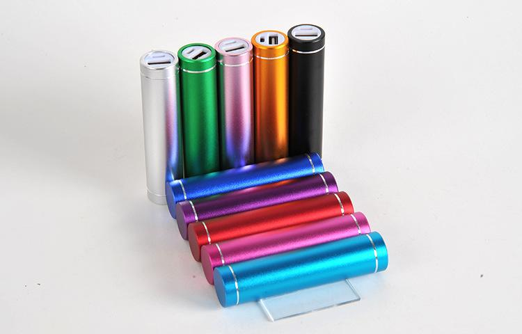 cylinder shape 2600mah Portable Mobile Power Bank 5V 1A USB Battery Charger 18650 power bank for your Phone