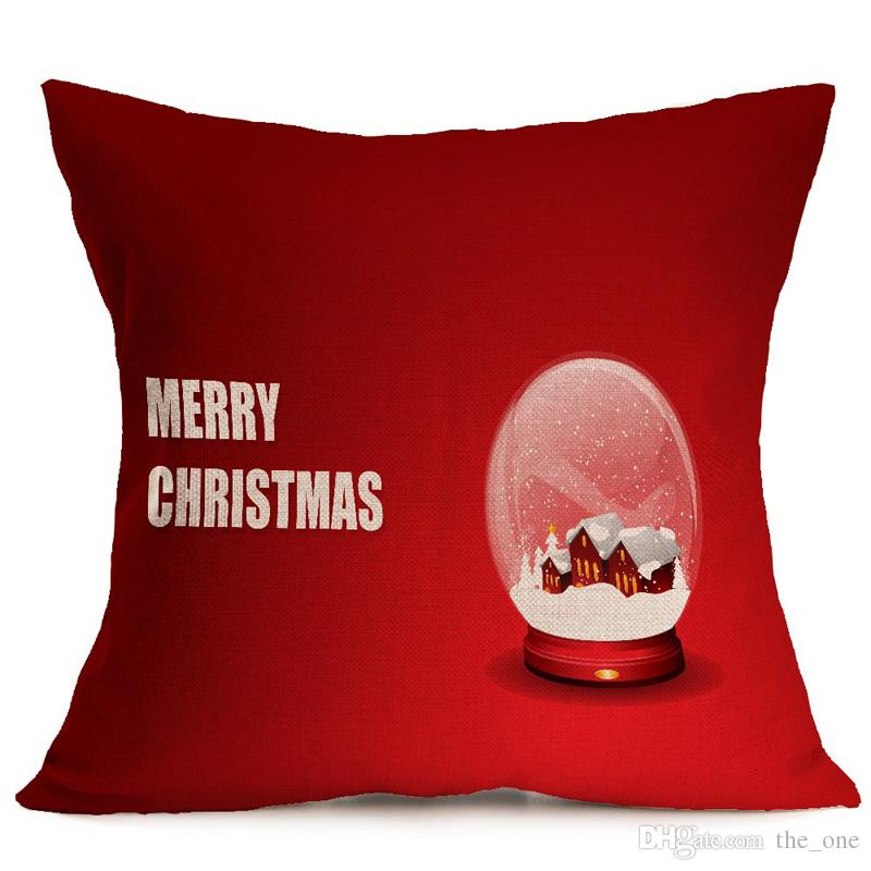 presente de Natal decorativas capas de almofadas coloridas impresso capa de almofada encosto fronha fronha macia frete grátis travesseiro deslizamento