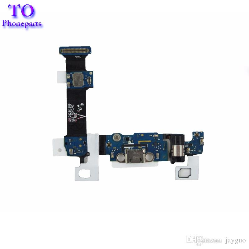 Ladegerät Dock Port Flex-Kabel mit Kopfhöreranschluss für Samsung Galaxy S6 Rand G925A G925P G925V G925F S6 Rand Plus G928A G928T