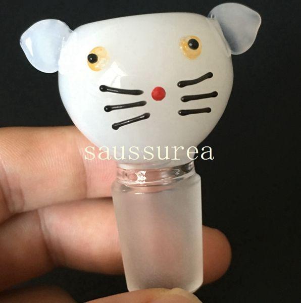 Commercio all'ingrosso più nuovo gattino ciotola ciotole di vetro bong ciotole 14.5mm 18.8mm bong tubi di acqua piattaforme petrolifere tubi di acqua di vetro libero