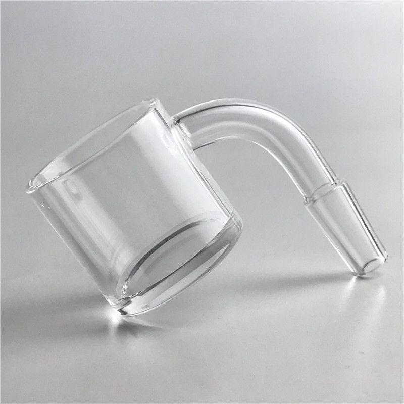 30mm XXL Flat Top Quartz Banger Nail with 4mm Thick Bottom 2mm Thick Domeless Honey Bucket 10mm 14mm Core Reactor Banger Grail Nails