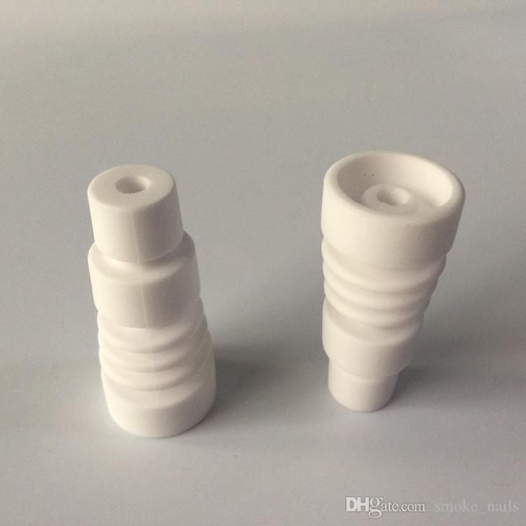 Groothandel 14mm 19mm domeloze keramische nagels met mannelijke glazen gewricht keramisch carb cap keramisch nagelvijl vs gr2 titanium nagel DHL gratis