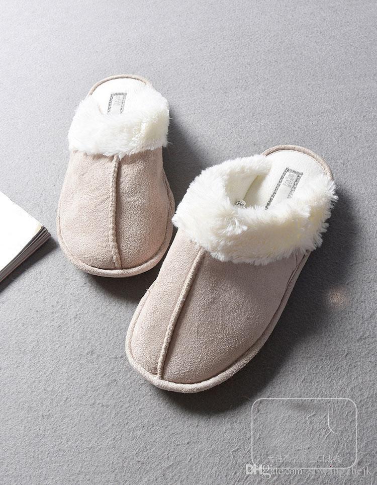 أزياء الساخن بيع نمط مريح دافئ أفخم النعال الأحذية المنزلية omens النعال الأخفاف التجزئة بالجملة داخلي