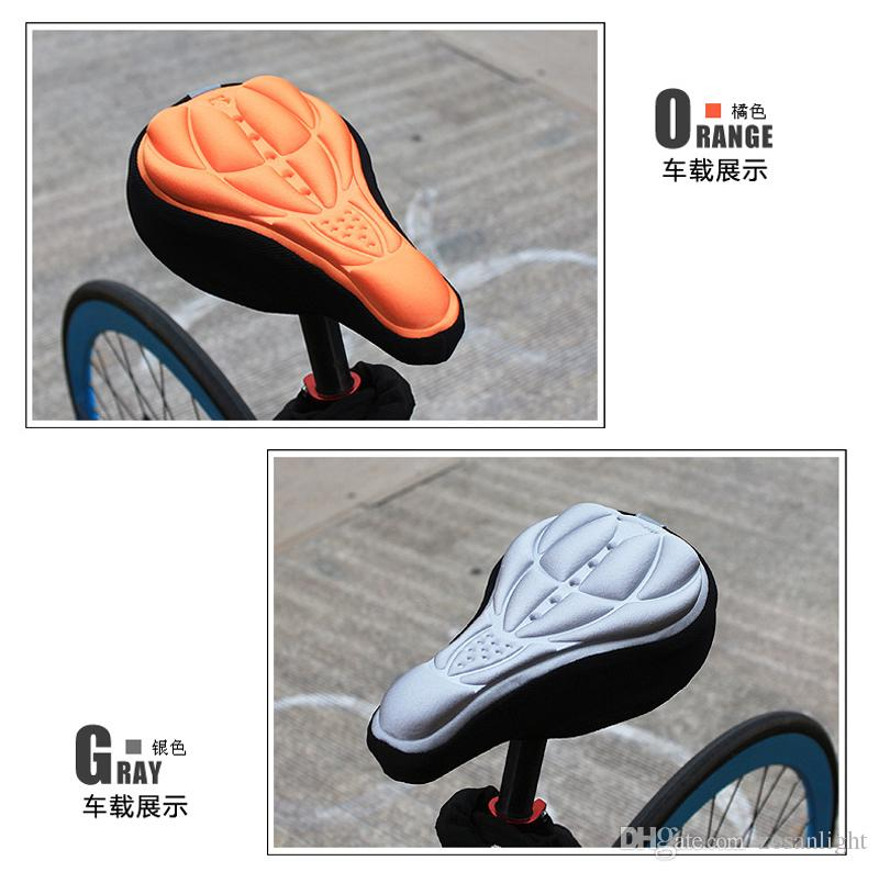 Cycling Bike Saddles 3D Comfortable Silicone Gel Seat Cover Cushion Soft Bicycle Pad Mountain Bike Parts Accessories Cushion Cover