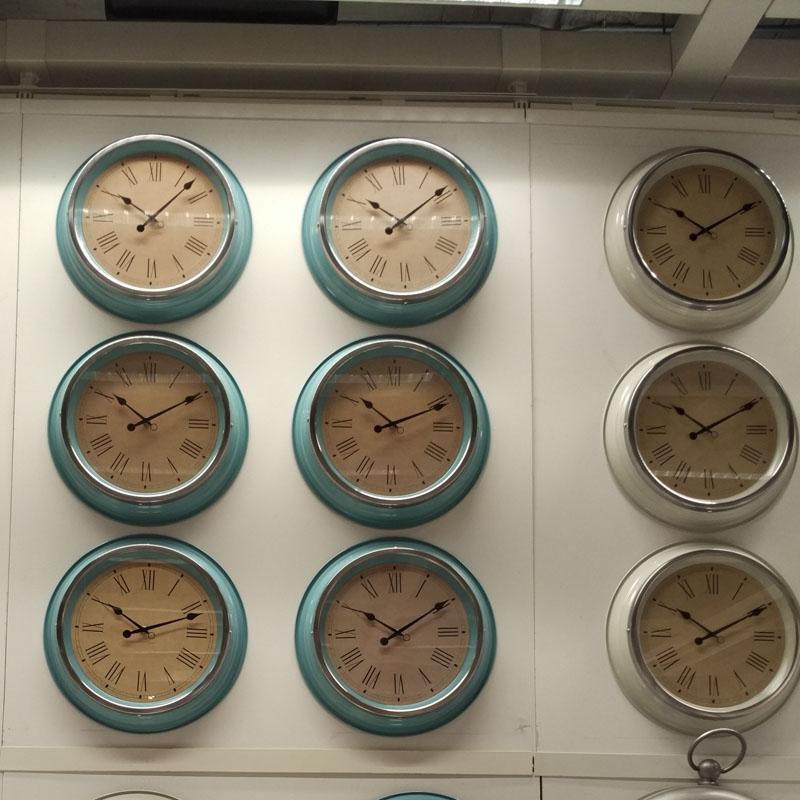 Simple Quartz Wall Clocks Ikea Skovel Round Clock For Living Room Study Home Decorations Relogio De Parede Beige Green