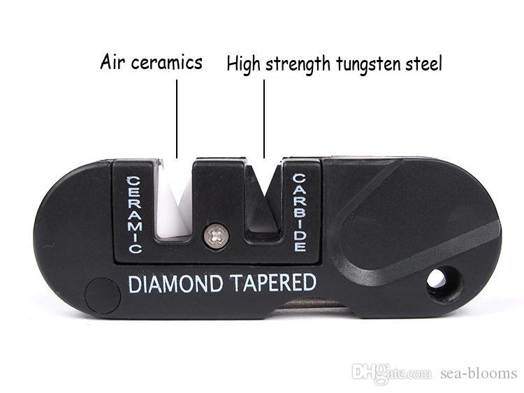 EDC Gear Outdoor Activity Whetstone Pure Tungsten Steel Professional Repair Knife Sharpener Pocket Tool Keychain F420L