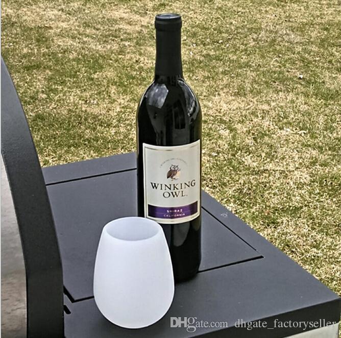 Силиконовые бокалы для вина 11 унций 350 мл Нераскрящаяся вечеринка для кемпинга для пикника RV Yachting Travel Wine Cups