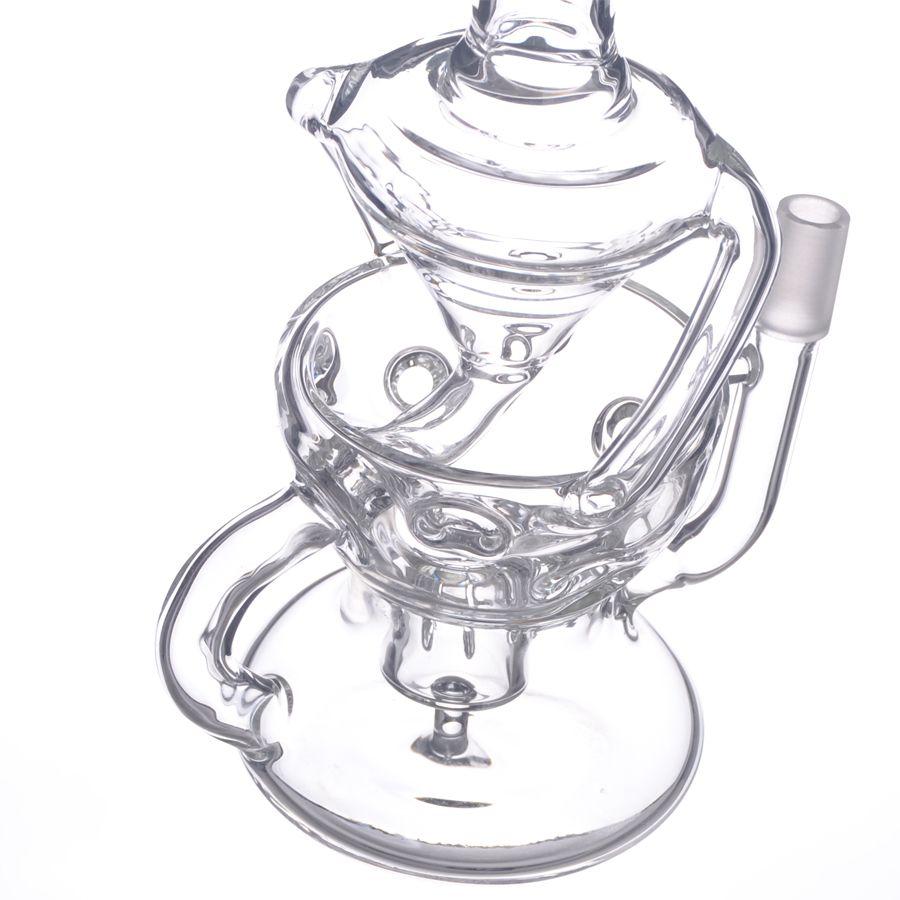 Novo Design de Vidro Duplo Bola Forma Reciclador Fab Faberge Egg Bottom Chuveiro Prc Vem Com Dome Prego S12