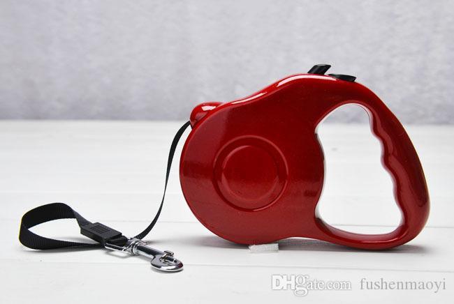Accessoires pour animaux de compagnie Série Fournitures pour chiens Laisse pour chien rétractable 3M de longueur max tension 25 livres 5 couleurs