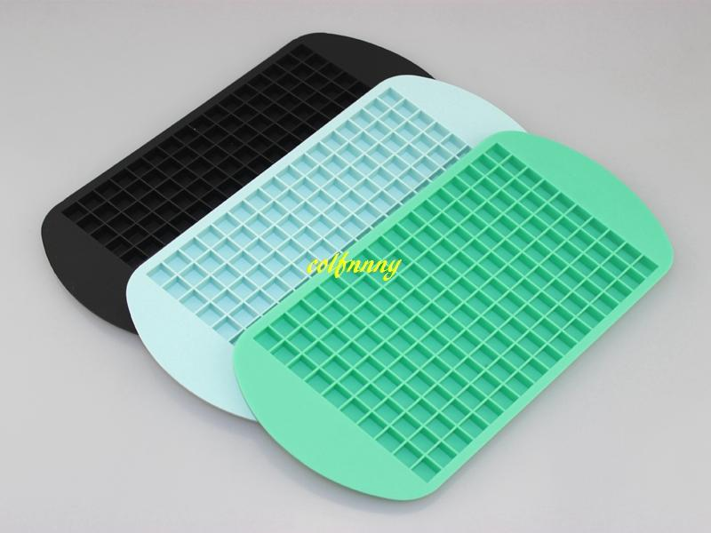 Fast shipping 1cm 160 Small Ice Maker Silicone Ice Cube Trays Chocolate Mold Mould Maker For Kitchen Bar Party Drinks