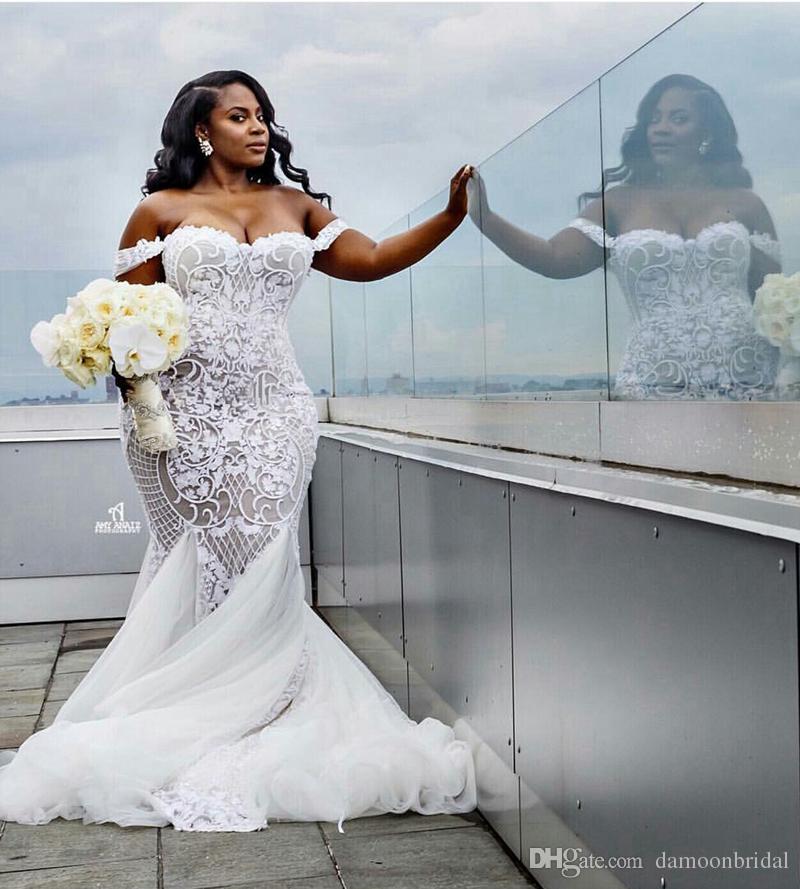 Compre Impresionante Sirena Africana Más El Tamaño De Vestidos De ...