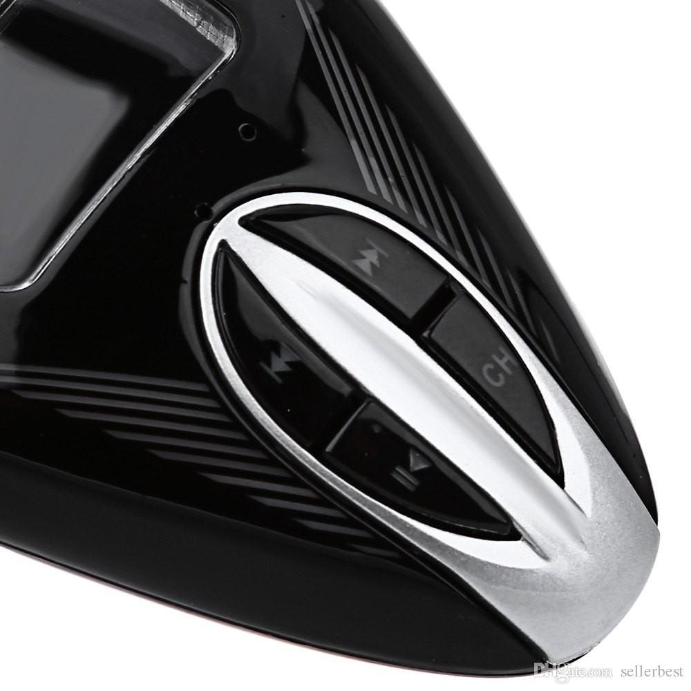 Transmissor FM Modulador de Rádio sem fio com Porta USB 2.0 TF LCD Controle Remoto de 360 Graus de Rotação Livre Car MP3 Player