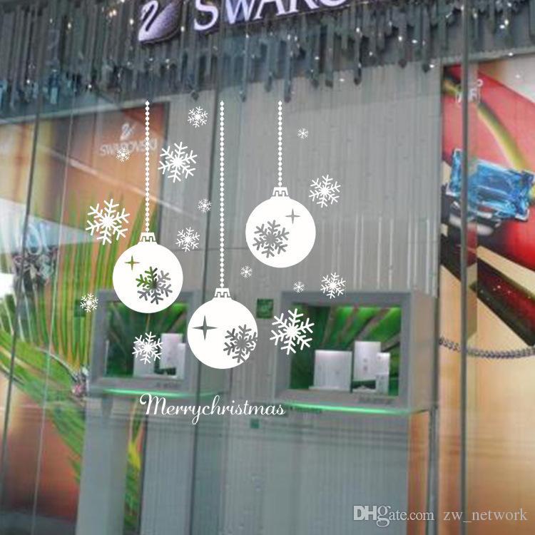 سنجور تاون عيد الميلاد ملصقات الحائط كبير للإزالة نافذة زجاج الزجاج ديكور جدار صائق أديبوروس نافيداد نافذة الزجاج ديكور 77
