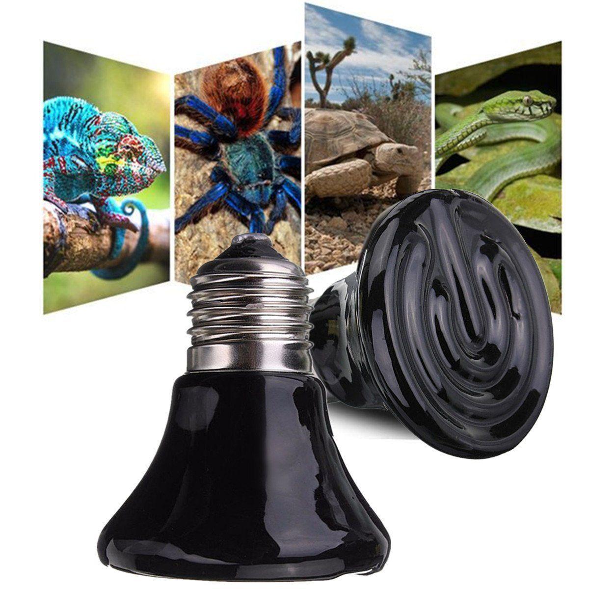 25W/50W/75W/100W/150W Mini Black Ceramic Heat Infrared Emitter Lamp Bulb Reptile Heat Lamp Pet Coop Brooder Grow Light Ceramic Heater