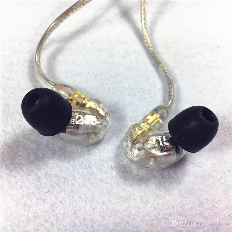 Écouteurs 215 Écouteurs intra-auriculaires Écouteurs 3.5mm Pour téléphone portable 3 couleurs Avec Retail Box hifi Parfait Bruit Annulation DHL Gratuit