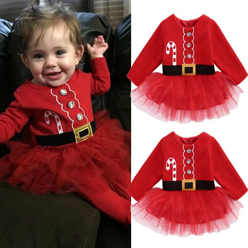 2018 wholesale 2016 new baby girl christmas dresses newborn baby girl cotton tulle tutu dress party outfits costume girl winter dresses 0 2t from babymom