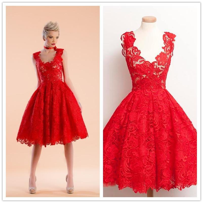 Großhandel Günstige Red Cocktail Kleider Kurze Schiere Süße 16 Kleid ...