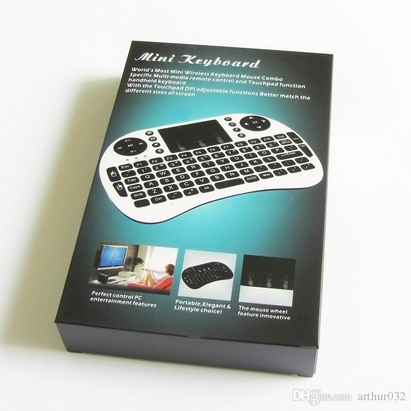 Tastiera wireless Mini Rii i8 2.4G Telecomando touchpad Android Android Ebraico inglese Air Mouse Smart TV Box Notebook Tablet PC