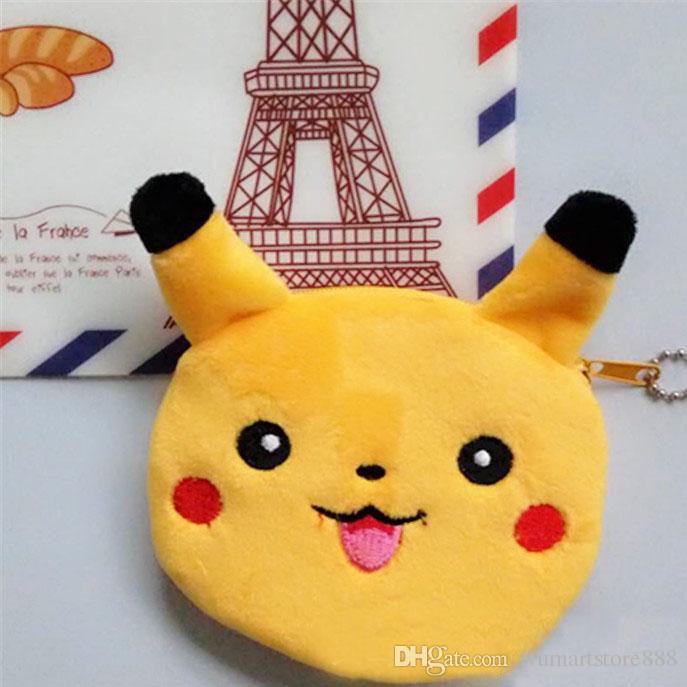New Poke Pikachu Elf Ball Eevee Plush Key Rings Cartoon Game Figure Pendant Car Handbag Mobile Cell Phone Keychain Stuffed Toys Gifts